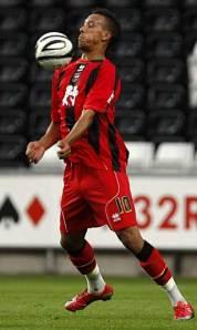 Albion goalscorer Liam Dickinson