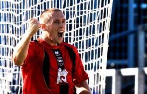Albion goalscorer Andrew Crofts